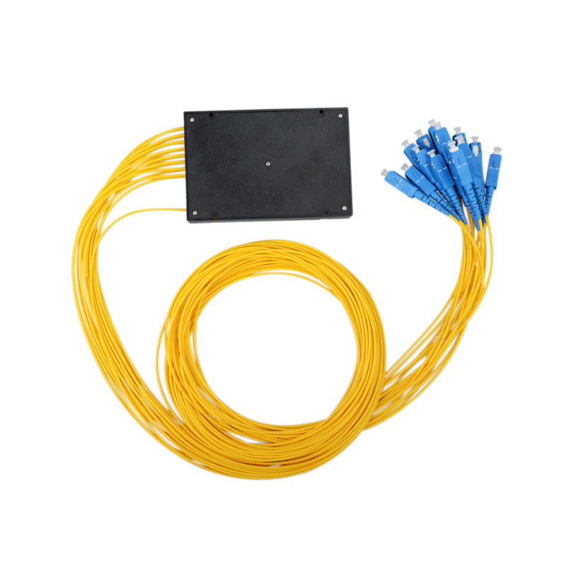 Fiber Optic Splitter 1x16 Single Mode PLC Fiber Optic Splitter ABS Box Type with SC Connector