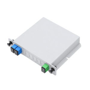 1X2 LGX Single Mode PLC Fiber Optic Splitter with SC FC Connection