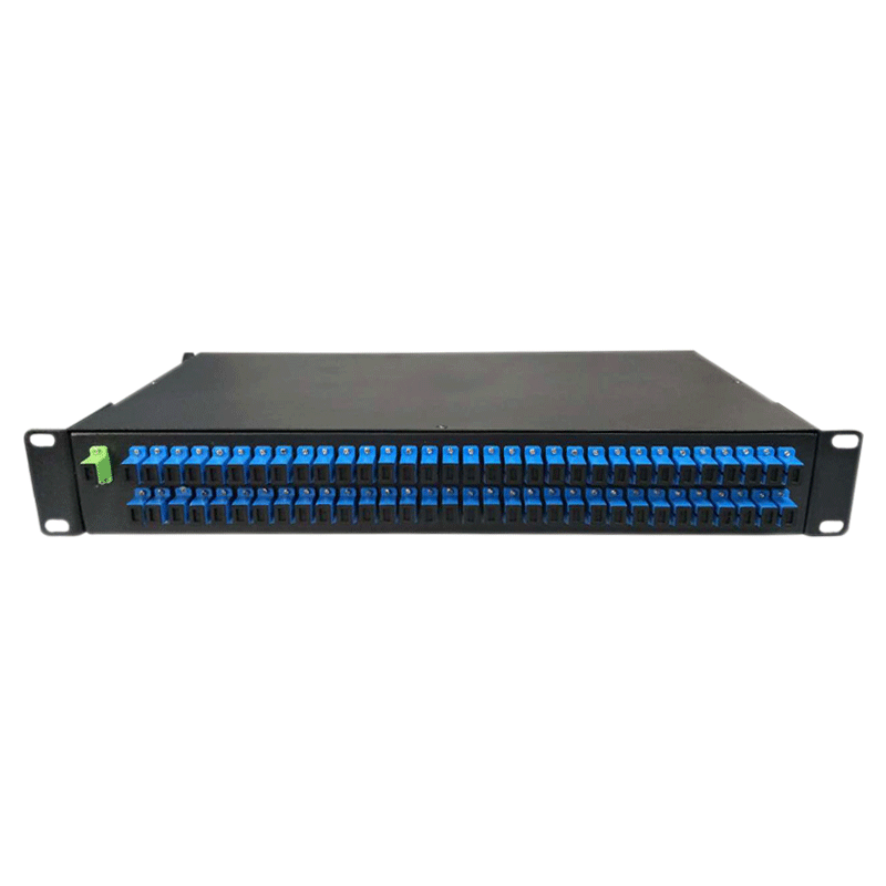 Optical Splitter 1x64 Rack Mounted ODF Type Single Mode PLC Fiber Coupler with SC Fiber Adapters