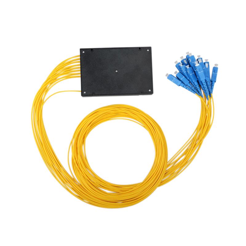Fiber Optic Splitter 1x16 Single Mode PLC Fiber Optic Splitter ABS Box Type with SC Connector