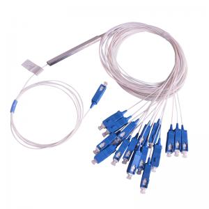PLC Splitter 1x16 Single Mode Blockless 0.9mm Fiber Cable with SC/UPC SC/APC Connectors
