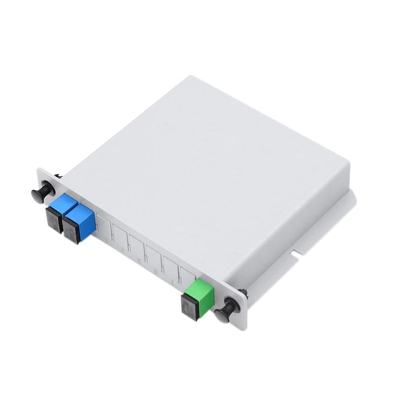 1X2 LGX Single Mode PLC Fiber Optic Splitter with SC FC Connection