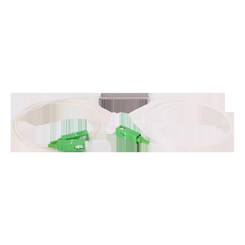 1x2 PLC Splitter Single Mode Blockless PLC Fiber Optic Coupler