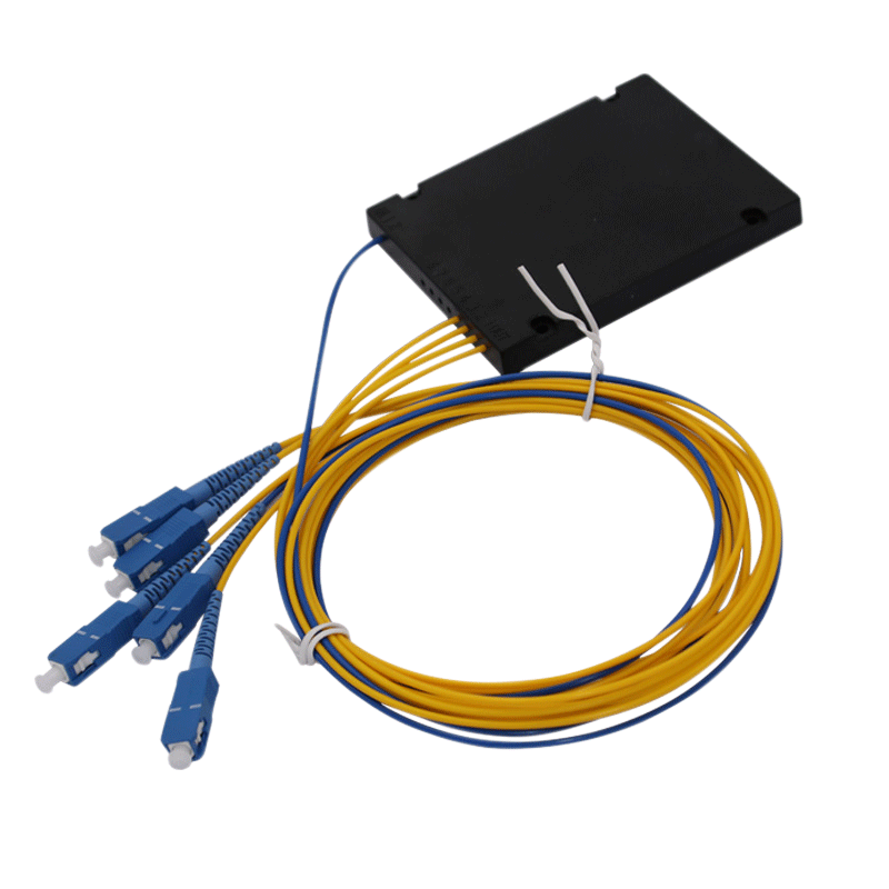 1x4 Single mode PLC Splitter Single Mode PLC Fiber Optic Splitter ABS Box Type with SC Connector