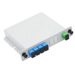 Fiber Optic Splitter 1x4 LGX Single Mode PLC Fiber Optic Splitter with SC FC Connection