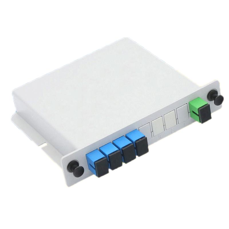 Fiber Optic Splitter 1x4 LGX Single Mode PLC Fiber Optic Splitter with SC FC Connection