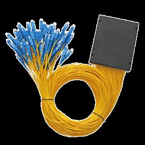 PLC Optical Splitter 1x64 Single Mode PLC Fiber Optic Splitter ABS Box Type with SC Connector