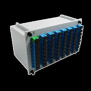 PLC Splitter 1X64 LGX Single Mode PLC Fiber Optic Splitter with SC FC Connection