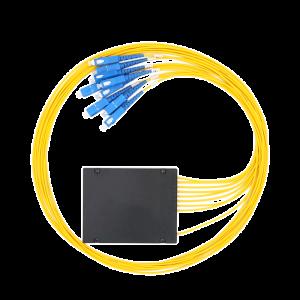 Fiber Optic Splitter 1x8 ABS Box Single Mode PLC Splitter with SC Connector